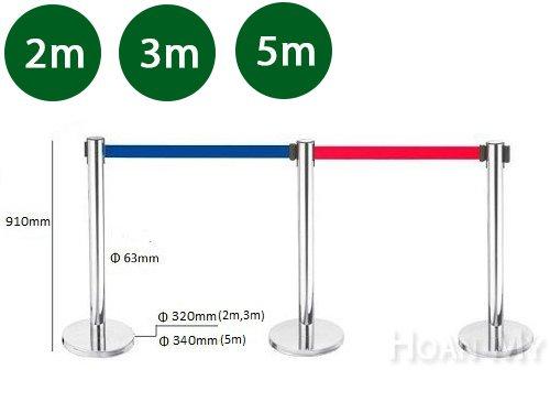 Cột chắn Inox dây kéo căng 2m, 3m, 5m