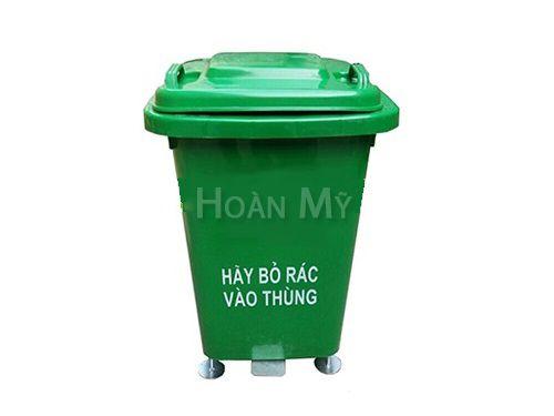 Thùng rác nhựa 60L có bàn đạp